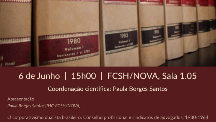 """Workshop: """"História da Advocacia Luso-Brasileira"""""""