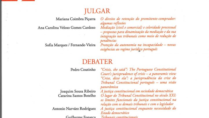 Julgar, a legal review of ,the Portuguese Judges Association